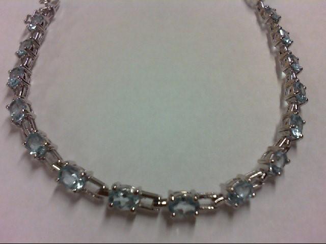 Blue Topaz Silver-Stone Bracelet 925 Silver 9.9g