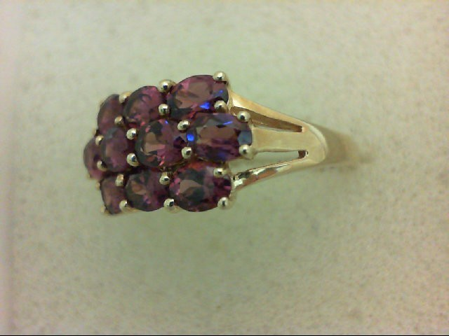 Amethyst Lady's Stone Ring 14K Yellow Gold 2.6g