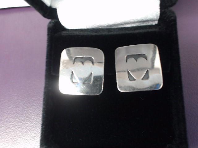 Sterling Silver Heart Earrings 5.37g