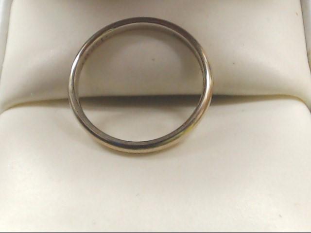 Lady's Gold Wedding Band 14K White Gold 1.6g Size:6