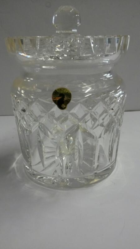 WATERFORD Glass/Pottery LISMORE ROUND BISCUIT BARREL