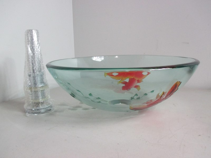 LITE KOI FISH GLASS VESSEL