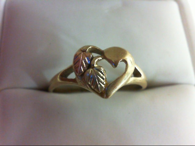 Lady's Gold Ring 10K Tri-color Gold 2.2g Size:10.25