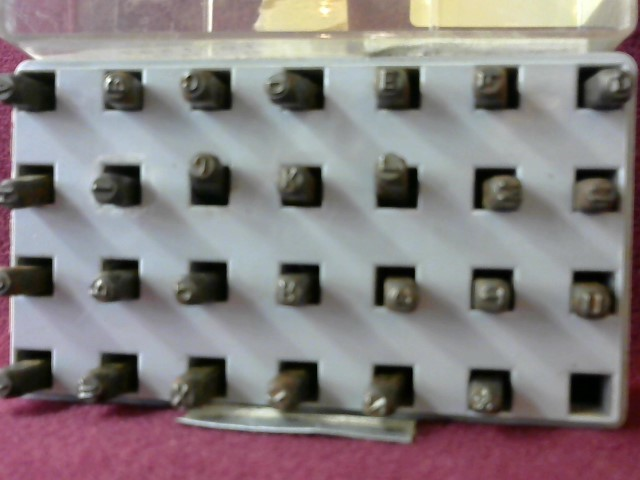 HANSON Hand Tool STEEL LETTER & NUMBER STAMPS