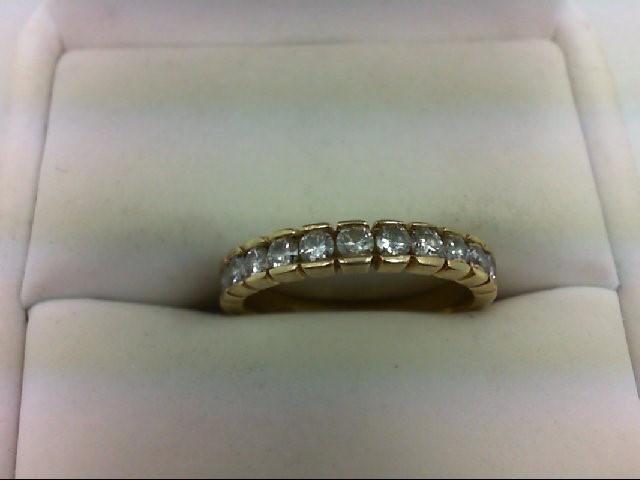 Lady's Diamond Wedding Band 11 Diamonds 0.55 Carat T.W. 14K Yellow Gold 2.6g Siz