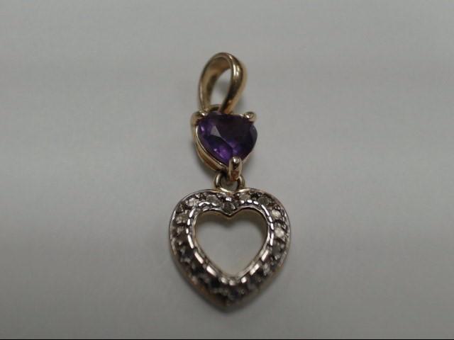 Purple Stone Silver-Stone Pendant 925 Silver 1.01g