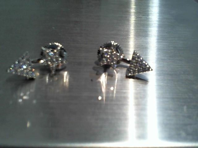 Gold Earrings 14K White Gold 4.4g