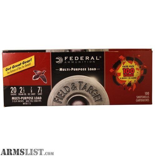 FEDERAL AMMUNITION Ammunition 100 ROUND VALUE PACK