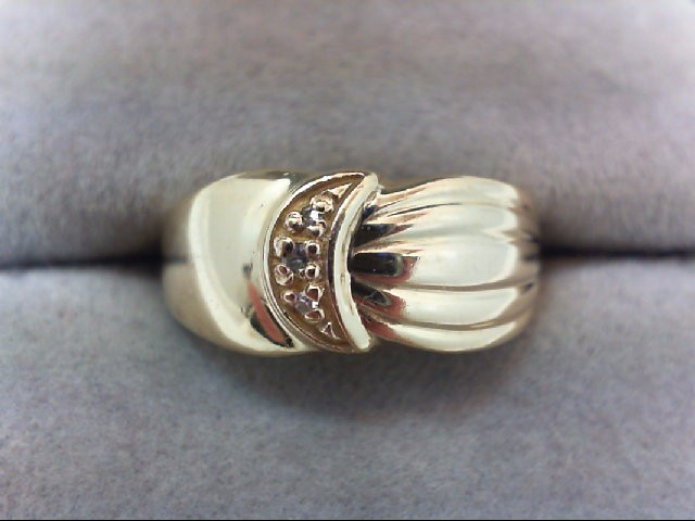 Lady's Diamond Wedding Band 3 Diamonds .03 Carat T.W. 14K Yellow Gold 4.3g