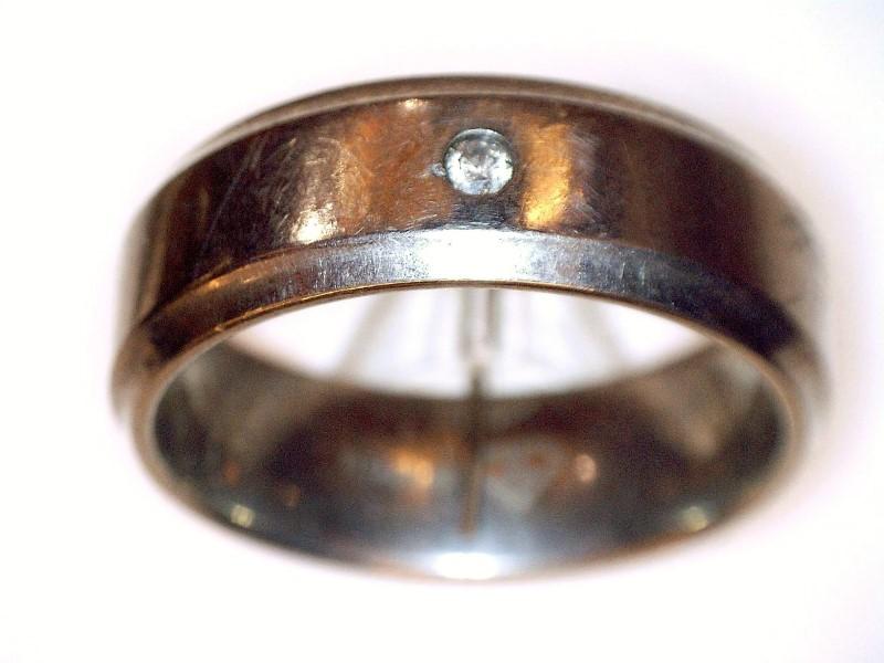 Gent's Ring Silver Titanium 3.3dwt