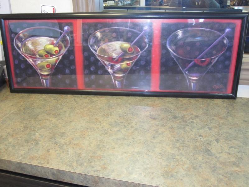 OZELLO Print MARTINI GLASS