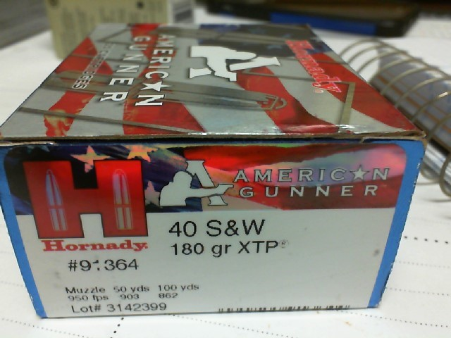HORNADY Ammunition 40 S&W 180 GRAIN XTP