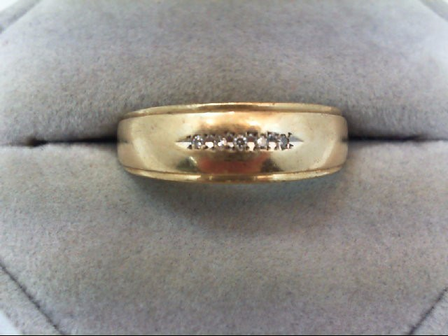 Lady's Diamond Wedding Band 5 Diamonds .05 Carat T.W. 14K Yellow Gold 3.5g