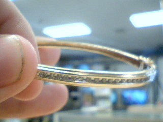 Gold-Diamond Bracelet 17 Diamonds .51 Carat T.W. 10K Yellow Gold 9.1g