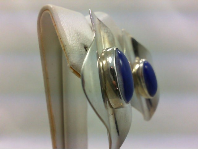 Lapis Silver-Stone Earrings 925 Silver 10g