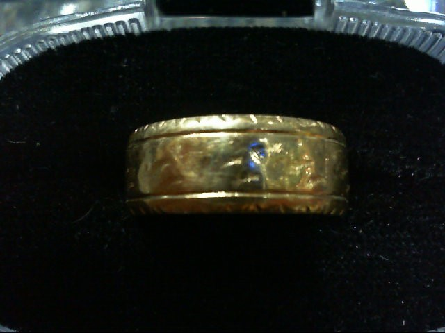 Lady's Gold Wedding Band 14K Yellow Gold 5.9g Size:7.5