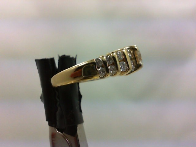 Lady's Diamond Wedding Band 17 Diamonds .95 Carat T.W. 14K Yellow Gold 4.2g