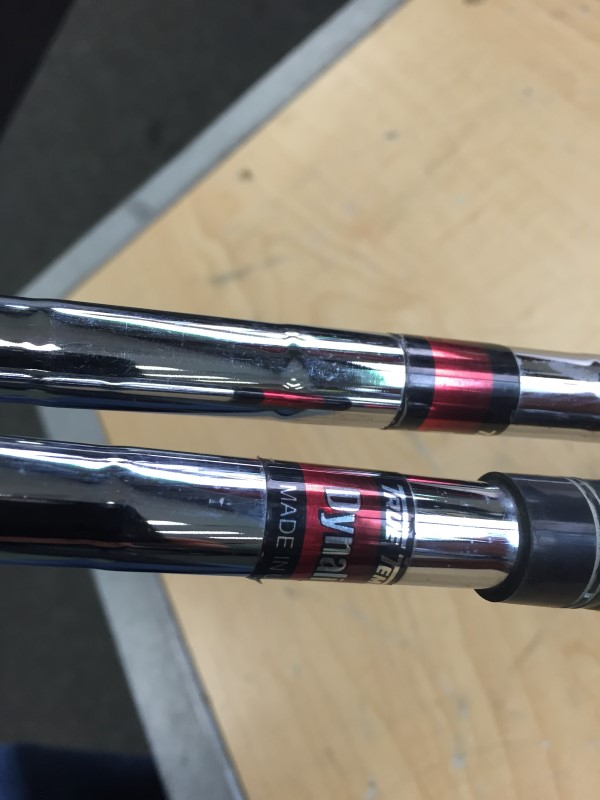 TAYLORMADE BURNER OVERSIZE 6 AND 7 IRONS DYNALITE STAINLESS SHAFTS