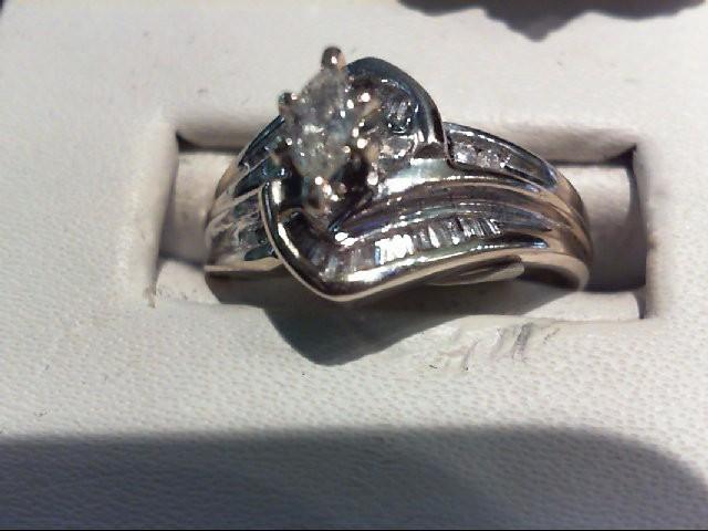Lady's Diamond Wedding Set 27 Diamonds .67 Carat T.W. 14K White Gold 4.37g