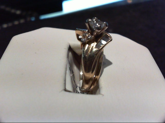 Lady's Diamond Wedding Set 17 Diamonds .71 Carat T.W. 14K Yellow Gold 4.65g