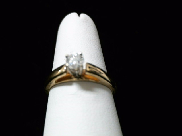 Lady's Diamond Solitaire Ring .20 CT. 14K Yellow Gold 2.9g Size:6