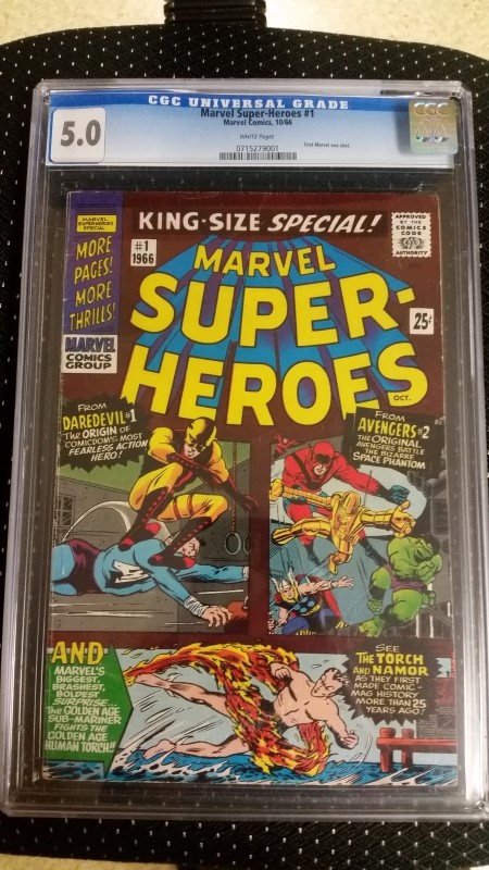 Marvel Super-Heroes #1 Oct. 1966 CGC 5.0 First 1st Marvel One-Shot White Pages