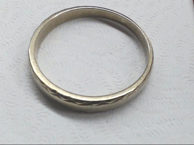 Lady's Gold Wedding Band 10K White Gold 2.1g Size:8