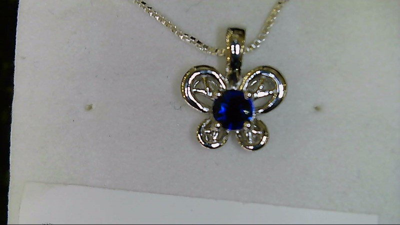 NEW SS BUTTERFLY SEPT. BIRTHSTONE PENDANT