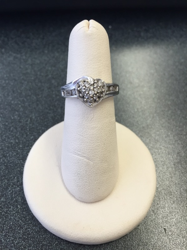 Lady's Diamond Fashion Ring 24 Diamonds .54 Carat T.W. 10K White Gold 3.9g