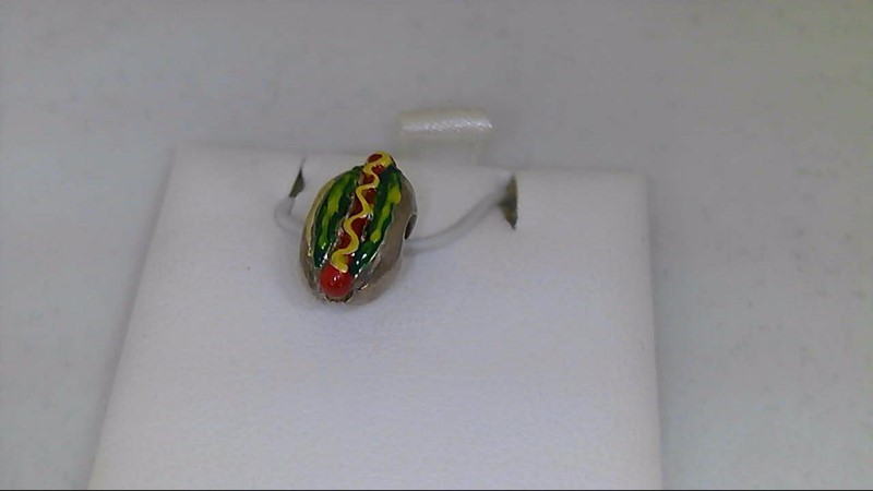 New Reflections Hot Dog Bead 925 Silver 2.5g
