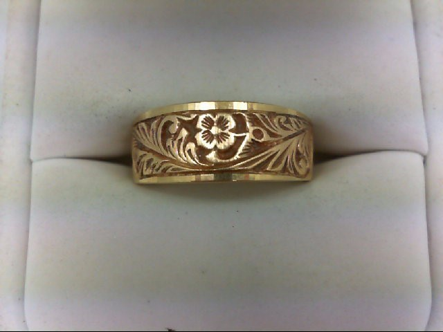 Lady's Gold Ring 14K Yellow Gold 4.4g Size:7.5