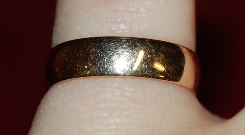 Gent's Gold Ring 18K Yellow Gold 2.4g Size:6.5