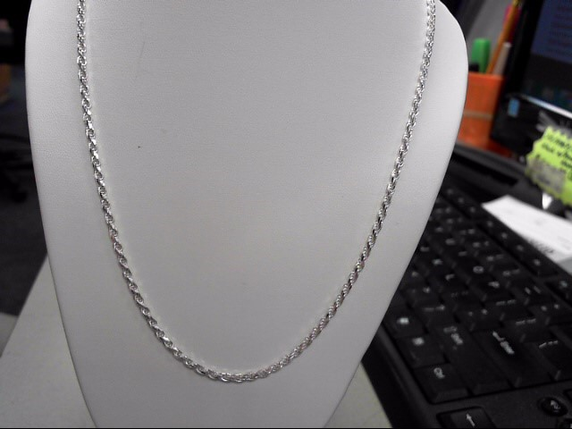 "18"" Silver Rope Chain 925 Silver 8.9g"