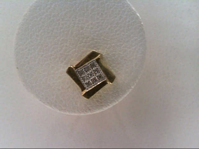 Gold-Diamond Earrings 18 Diamonds .090 Carat T.W. 10K Yellow Gold 0.8g