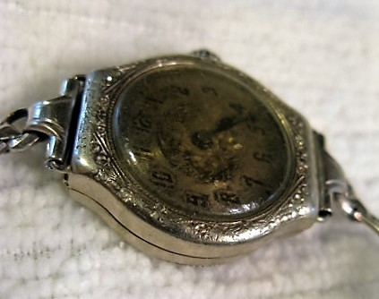 Antique 15 JEWELS FREY WATCH CO. SWISS DELMAR LADIES WATCH - WHITE GOLD R.G.P.