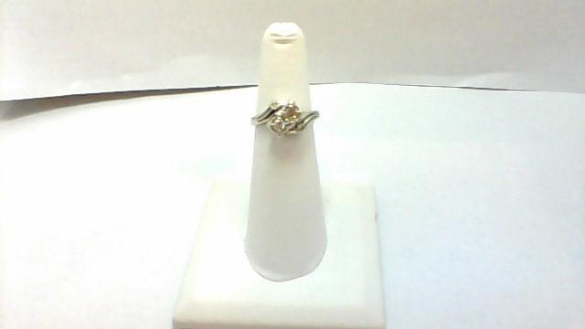 Lady's Diamond Fashion Ring 4 Diamonds .26 Carat T.W. 14K White Gold 3.6g