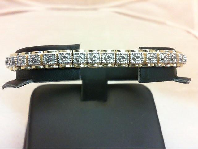 Silver-Diamond Bracelet 40 Diamonds 0.4 Carat T.W. 925 Silver 16.7g