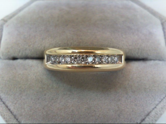 Lady's Diamond Wedding Band 11 Diamonds .33 Carat T.W. 14K Yellow Gold 4.7g