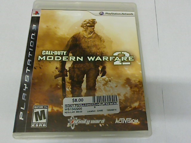 CALL OF DUTY MW2 PS3 GAME