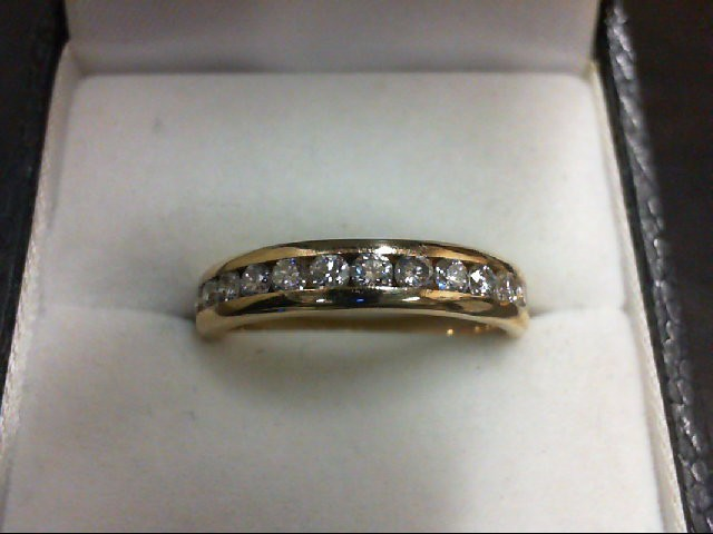 Lady's Diamond Wedding Band 12 Diamonds 0.6 Carat T.W. 14K Yellow Gold 4.2g