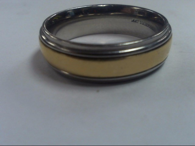 Gent's Gold Ring 14K 2 Tone Gold 7.4g Size:11.5