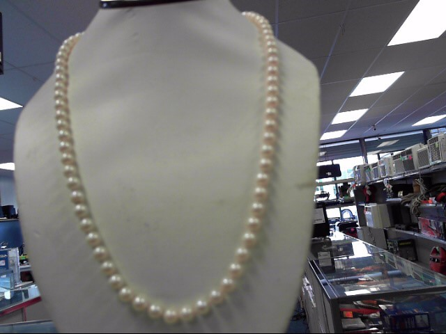 "PEARL NECKLACE 22"" 6.5MM PEARLS"
