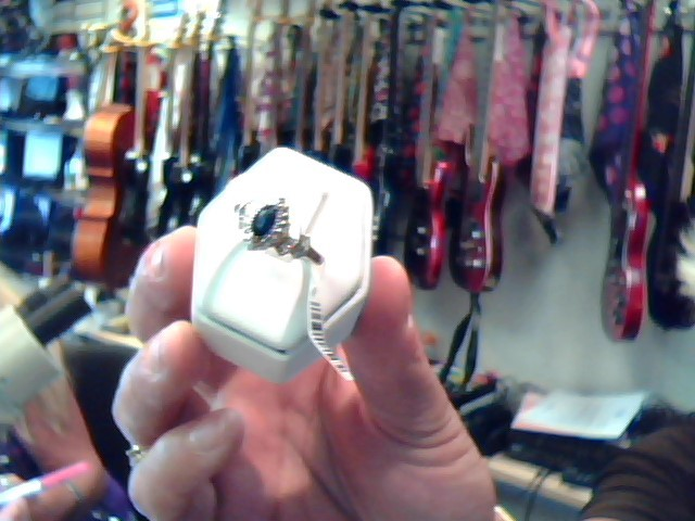 Synthetic Sapphire Lady's Stone & Diamond Ring 38 Diamonds .38 Carat T.W.