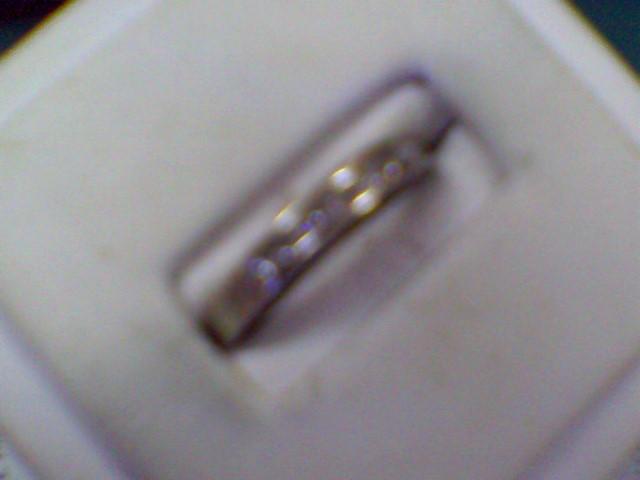 Lady's Diamond Wedding Band 8 Diamonds .40 Carat T.W. 14K White Gold 2.7g