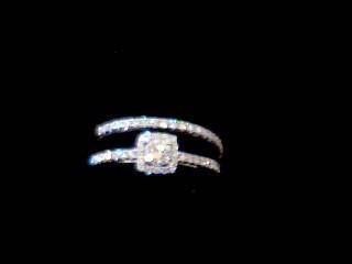Lady's Diamond Wedding Set 31 Diamonds .50 Carat T.W. 14K White Gold 3.9g
