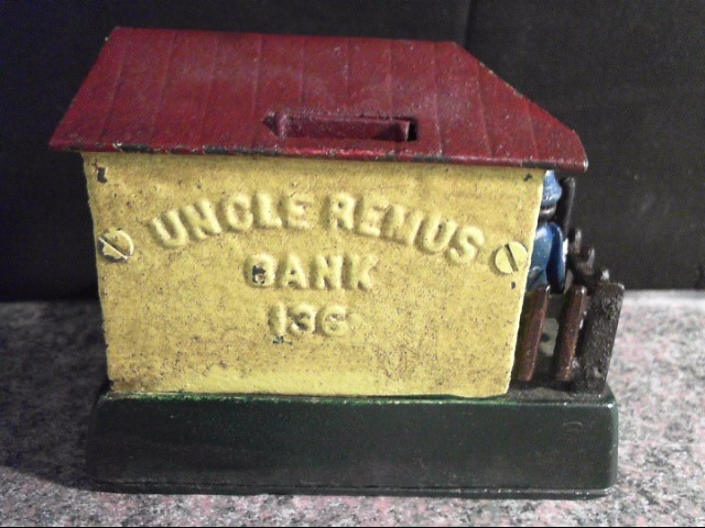 UNCLE REMUS CAST IRON BANK 136 REPRODUCTION