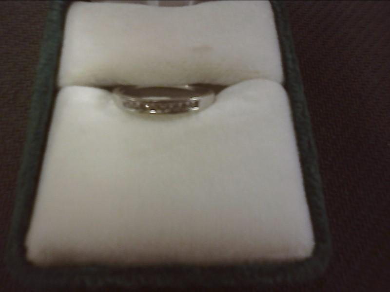 Lady's Gold-Diamond Anniversary Ring 9 Diamonds .09 Carat T.W. 10K White Gold