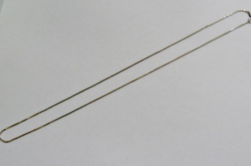 """19.5"""" FINE BOX LINK Silver Chain 925 Silver 1.7dwt"""