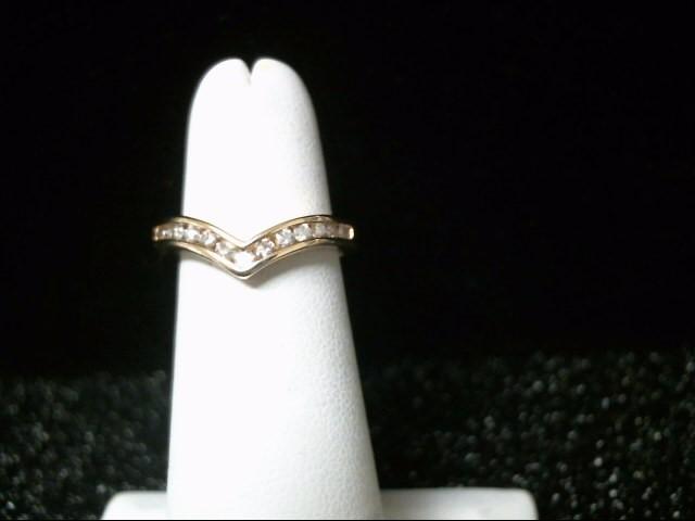 Lady's Diamond Fashion Ring 13 Diamonds .26 Carat T.W. 14K Yellow Gold 2.8g