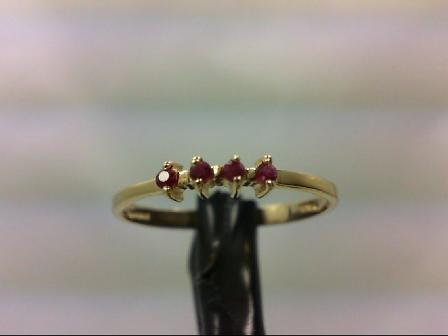 Ruby Lady's Stone Ring 14K Yellow Gold 1g Size:6.5